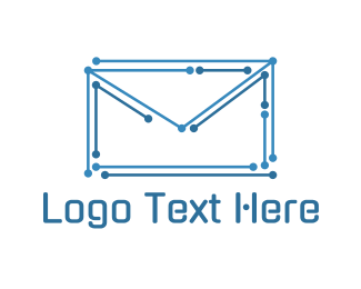 Post - Electronic Envelope logo design