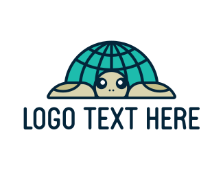 Worldwide - Global Turtle logo design