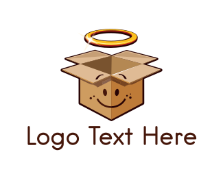 Moving Company - Angel Box logo design