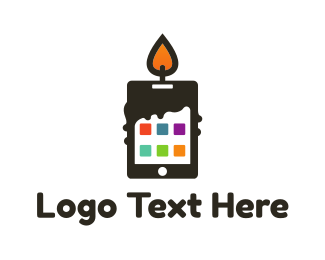 Cell Phone - Candle Application logo design