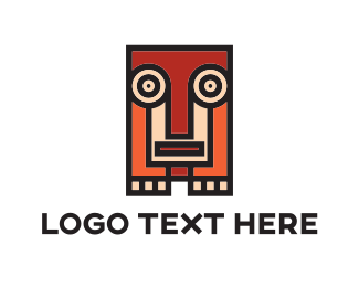Mayan - Squared Animal Totem logo design