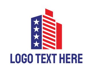 Ny - American Estate logo design