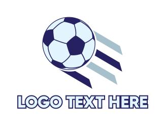 Flying Soccer Ball Logo