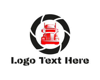 Trailer - Red Truck  logo design