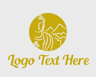 Massage - Mountain Buddha logo design