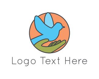 Hospice - Blue Pigeon logo design
