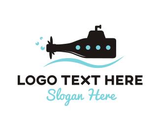 Bottle - Bottle Submarine logo design