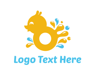 Water - Splash Duck logo design