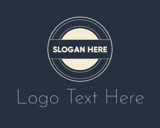 Monogram - Retro Round Monogram logo design