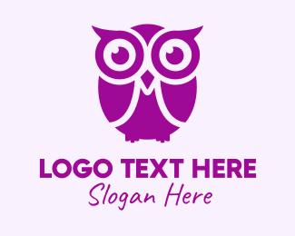 Birdie - Owl Cartoon logo design