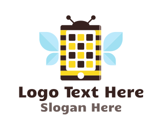 Phone - Bee Application logo design