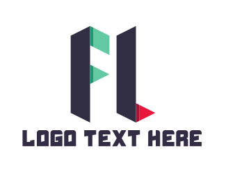 Letter F - F & L logo design
