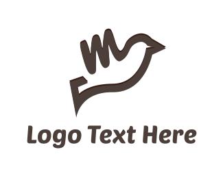 Bird & Letter M Logo