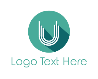 Turquoise - Mint U Circle logo design