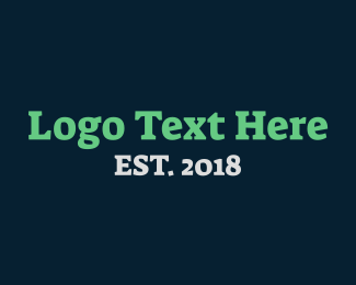 Type - Strong Serif Text logo design