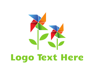 Windmill - Wind Garden logo design