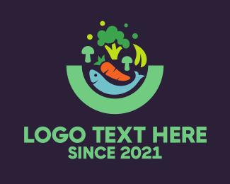 Lettuce - Fish & Vegetables logo design