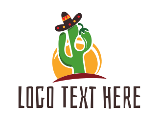 Cactus - Mexican Food logo design