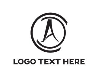 Lettering - Black Compass logo design