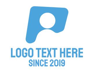 Letter P - Person Silhouette logo design