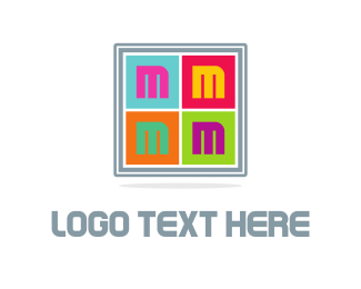 Pop - Colorful Letter M  logo design