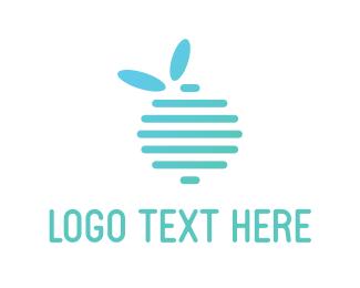 Blackberry - Blue Fruit logo design