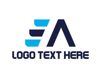 Freezer - Blue E & A logo design