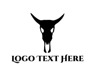 Cowboy - Bull Skull logo design