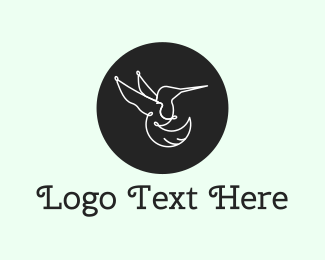 Colibri - Hummingbird Circle logo design