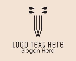 String - Violin Strings logo design