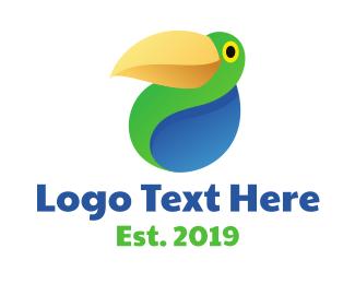 Safari - Abstract Parrot logo design
