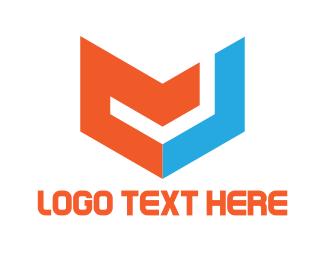 Letter J - M & J logo design