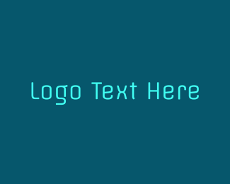 Futuristic - Blue & Futuristic  logo design
