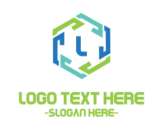 Symbol - Hexagon Chain Link logo design