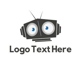 Antenna - Robot Head logo design