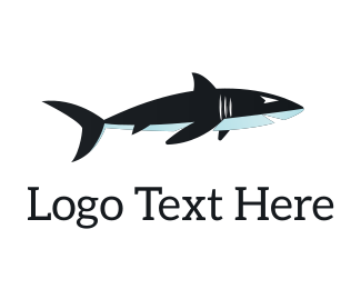 Maritime - Dark Blue Shark logo design