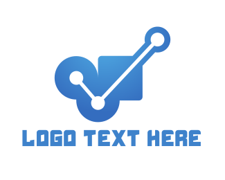 Evidence - Geometric Connection logo design