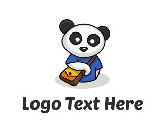 Panda Cartoon logo design