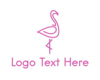 Pink - Pink Flamingo logo design