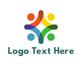Human Resources - Colorful Crowd logo design