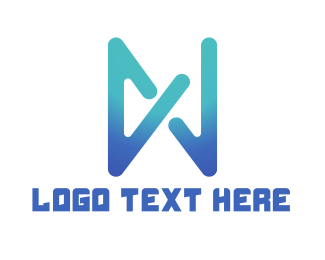 Abstract Blue Icon Logo