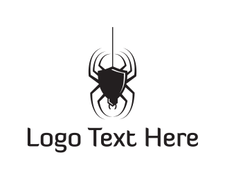 Halloween - Black Spider logo design