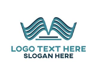 Institute - Blue Book Emblem logo design