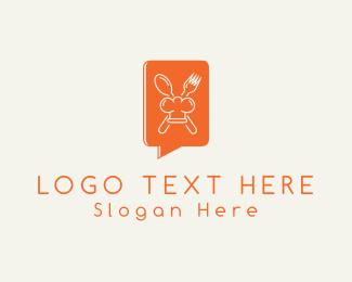 Recipe - Gourmet Chat logo design