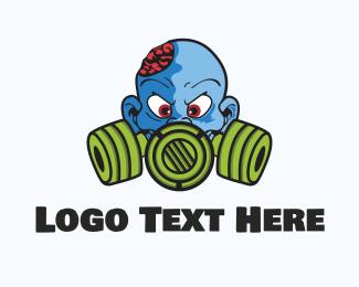 Zombie - Blue Zombie  logo design