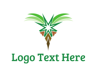 Beach - Tropical Palm  logo design