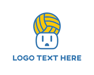 Volleyball - Ball & Power Outlet logo design