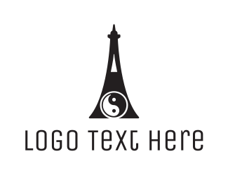 Martial Arts - Yin Yang Tower logo design