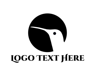 Beak - Hummingbird Silhouette logo design