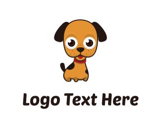 Canine - Cute Puppy logo design
